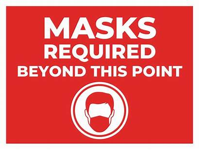 Covid Signs Distancing Social Decals Mask Sign