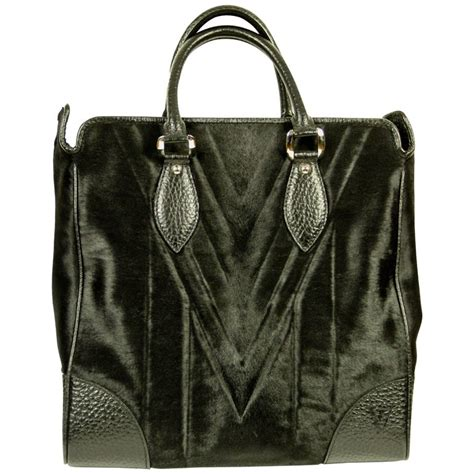 louis vuitton whistler collection limited edition black horse hair tote bag  stdibs