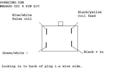 4 Pin Cdi Ignition Wiring Diagram by Ooracing Performance Monkey Bike Pit Bike Madass
