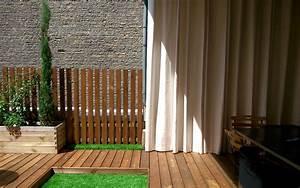 un rideau exterieur est un excellent brise vue retractable With rideau pour pergola exterieur 15 brise vue retractable sur mesure