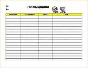7 monthly sign up sheet template fabtemplatez With food day sign up sheet template