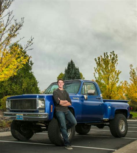 Light Bar Truck by Senior Pictures With My Baby 1976 Chevy Custom Deluxe