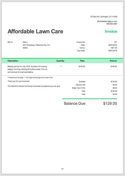 create  professional invoice sample invoice