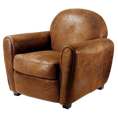 canapé vintage occasion fauteuil vintage microfibre marron achat vente