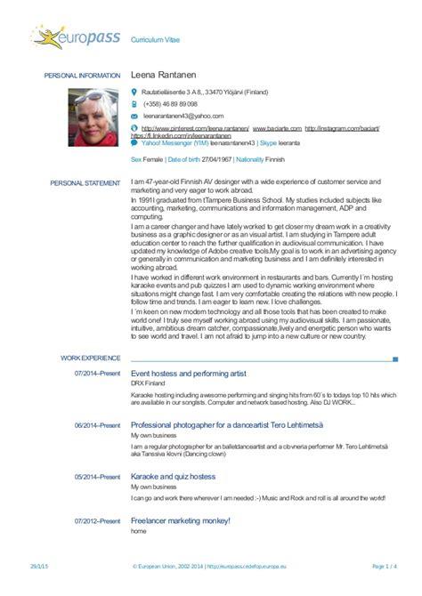 europass curriculum vitae curriculum vitae sle