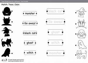 go away worksheet match trace color simple