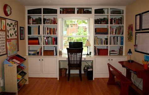 bookcase with desk built in homeschool classroom ideas from jennifer at
