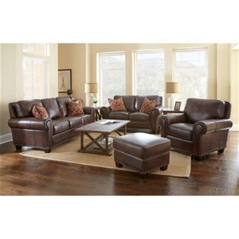 brown living room furniture atwood 4 top grain leather set house