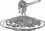 Spaghetti Coloring Colouring Clipart Pasta Plato Colorear Espaguetis Dibujos Fideos Imagui Dibujo Mewarna Clip Gambar Tasty Template Mas Menta Educacion sketch template