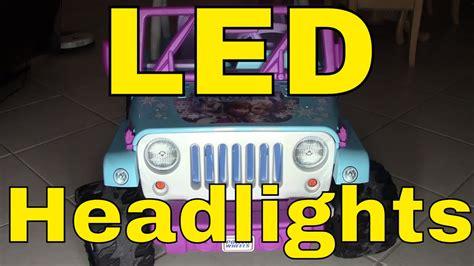 Led Lights Wiring Power Wheels Disney Frozen Jeep