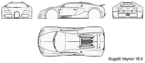 Bugatti Veyron Blueprint by Tutorials3d Blueprints Bugatti Veyron 16 4