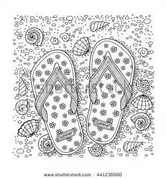 Adult Beach Coloring Pages