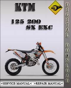 1999-2002 Ktm 125 200 Sx Exc Factory Service Repair Manual