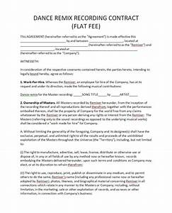 opinions on recording contract With record label contracts templates