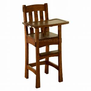 Amish Wooden High Chair Arts & Crafts High Chair Baby