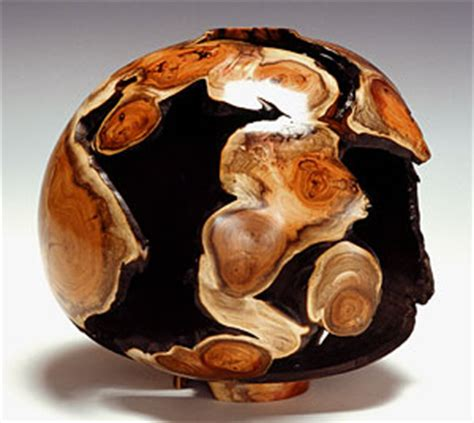 woodturning gallery english yew hollow turned vessel