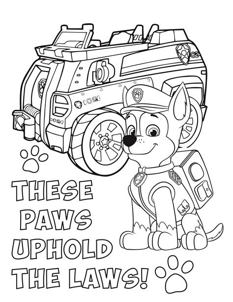 Free PAW Patrol Coloring Pages Party Ideas & Activities