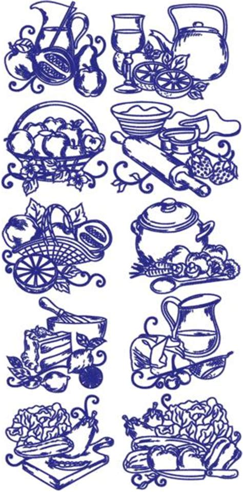 kitchen embroidery designs free advanced embroidery designs one color kitchen set 4740