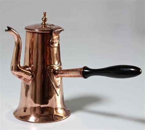 antiques atlas georgian copper chocolate pot