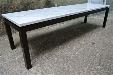 Harvey Probber Carrara Marble Coffee And Cocktail Table