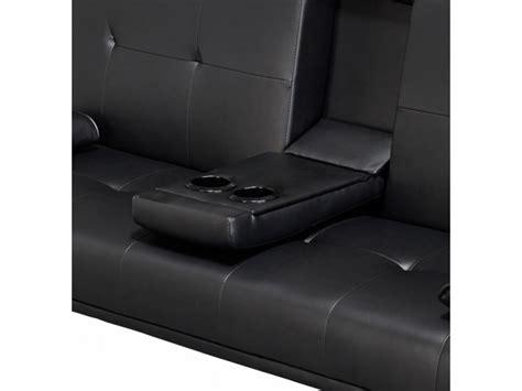 Sofa Bed Cinema by Luciana Cinema Fold Sofa Bed Black Faux Leather