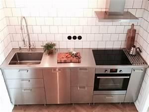 Ikea Küchen Beispiele : industriestil edeslathal arbeitsplatte ikea grevsta kitchen k chen k che schmale k che ~ Frokenaadalensverden.com Haus und Dekorationen