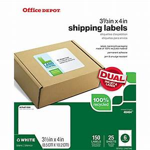 office depot brand 100percent recycled mailing labels 3 38 With does office depot print stickers