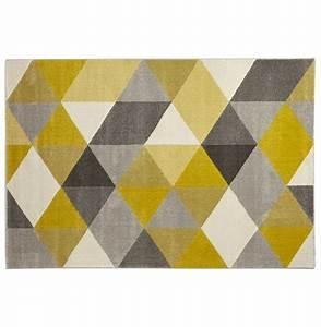 tapis 160 x 230 motifs gomtrique jaune gris valdeano With tapis jaune et gris