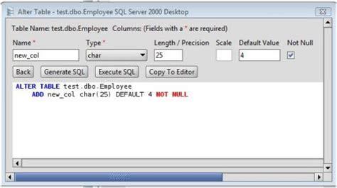 ms sql server add column  ms sql server  tables