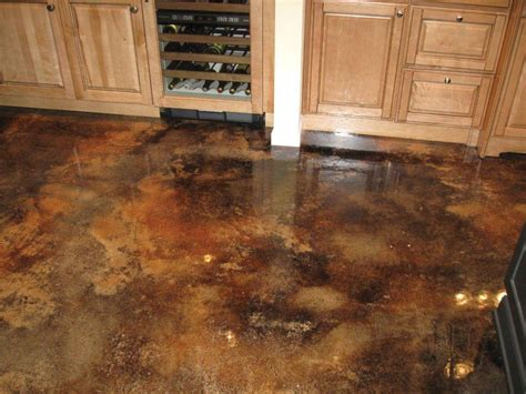 stained concrete kitchen floor concrete enhancement how to warm and brighten those cold 5695