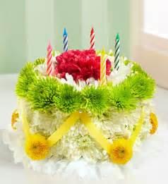 Birthday Cake with Yellow Flowers