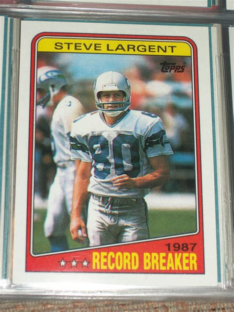 rare topps 1988 football steve largent record card breakers ecrater