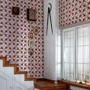 Papier Peint Vinyl Imitation Carrelage : carreaux de ciment motifs end miques ~ Premium-room.com Idées de Décoration