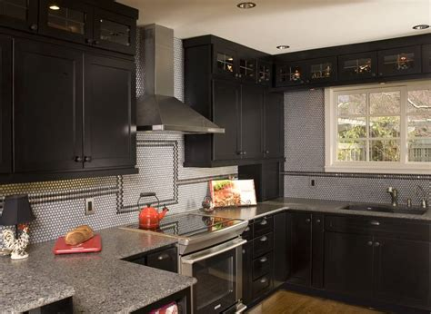 transitional kitchen maple black stained shaker door