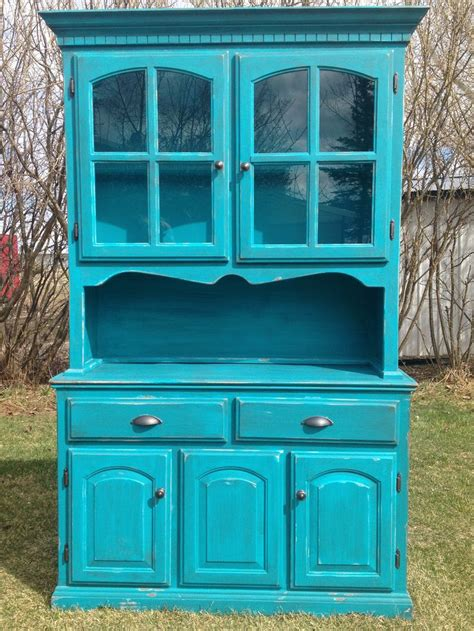 blue distressed kitchen cabinets turquoise blue china cabinet painted and distressed 4805