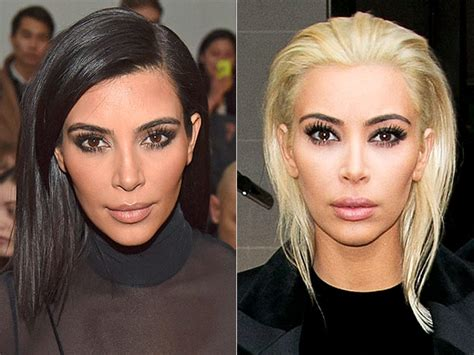Kim Kardashian Dyes Hair Platinum Blonde See The Photos