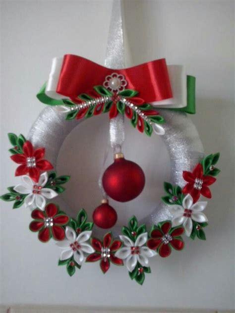 resultado de imagen  pinterest kanzashi christmas