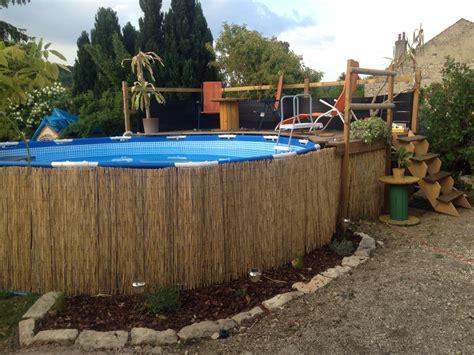 id 233 e am 233 nagement piscine hors sol et sa terrasse piquet d acacia lame terrasse autoclave