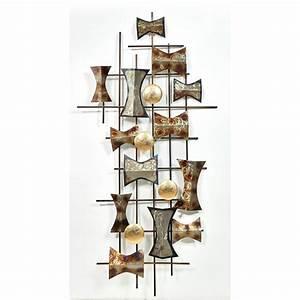 Sculpture Metal Murale : scultura della multiforme parete di metallo argento ~ Teatrodelosmanantiales.com Idées de Décoration