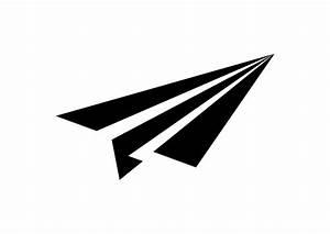 Simple Black Paper Plane Vector Icon
