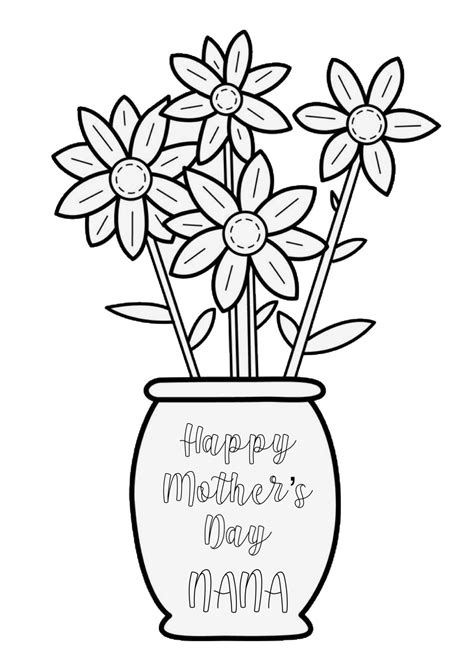 happy mothers day nana coloring page coloring pages happy mothers mothers day