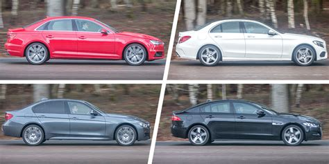 Audi A4 Vs Mercedes C-class Vs Bmw 3 Series Vs Jaguar Xe