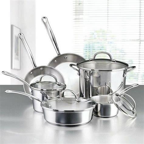 farberware millennium stainless steel  piece cookware set
