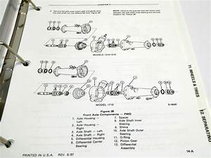Ford 1710 Tractor Parts Diagram