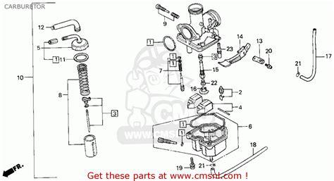 honda xr100r 1988 usa carburetor schematic partsfiche