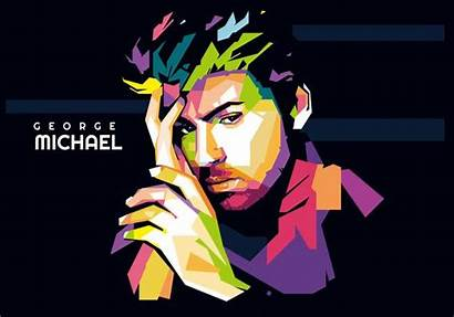 George Michael Wpap Pop Portrait Careless Vektor