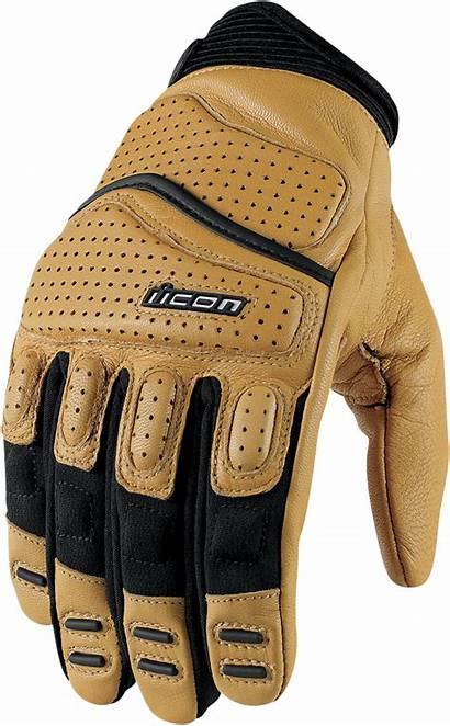 Gloves Icon Motorcycle Tan Super Duty Leather
