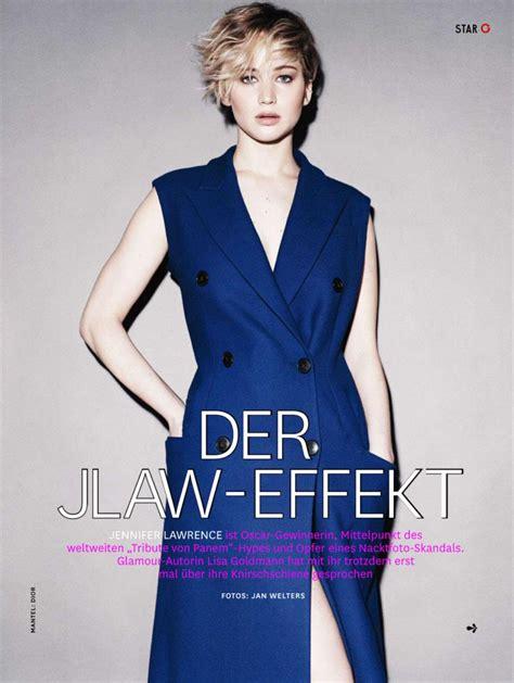 Jennifer Lawrence Glamour Magazine Germany December