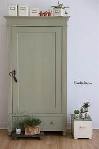 Kleiderschrank Weiß Vintage : vintage w scheschrank in lindgr n kleiderschrank f r dein ~ Watch28wear.com Haus und Dekorationen