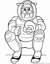 Coloring Dog Baseball Catcher Coloringpages101 sketch template